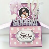 Handmade Name & Age Personalized birthday card, PHOTO Personalized