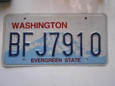 plaque immatriculation  usa washington license plate old americaine 7910