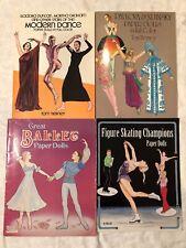 Pavlova Skating Ballet Isadora Duncan Modern Dance Paper Dolls Lot Of 4 Tierney