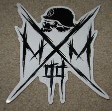 """METAL MULISHA Owned Skull Helmet Skate Sticker 6.5"""" motocross skateboard decal"""