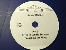 A.W. TOZER, no. 3, Over 65 Audio Sermons, MP3 one CD