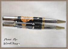 Writing Pen Handmade Rollerball Maple Burl Wood & Resin Beautiful Wooden Art 719