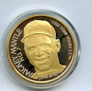 Mickey Mantle 1 Oz Silver Coin Limited Edition .999 Fine Silver