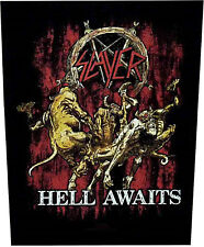 Slayer Hell Awaits Back Patch schiena ricamate Official Merchandise