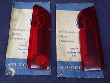NOS 1964 Studebaker Lark Pair Set of 2 Tail Light Lenses OEM ~ Left & Right