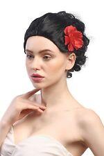 Wig Ladies Carnival Black Short Rose Spain Senorita Tango Carmen Bolero