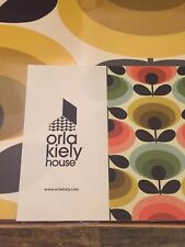 Orla Kiely Set Of 4 Placemats 70's Oval Flower Design Brand New Assorted Colours