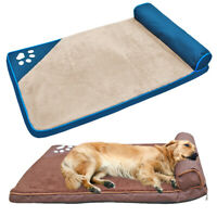 Extra Large Pet Cat Dog Bed Plush Sleeping Mat Mattress for Kennel Crate Cushion