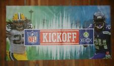 2012 NFL KICKOFF Seattle Seahawks Green Bay Packers FOOTBALL PROMOTIONAL BANNER