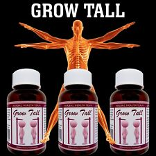 HEIGHT ENHANCE - BONE GROWTH PILLS - GROW SAFELY BE TALLER ENHANCER - 3 BOTTLES