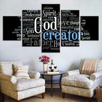 Great God Words Painting Christ Jesus Poster Wall Art Home Decor 5p Canvas Print