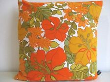 Cushion Cover Vintage Morris Sanderson Retro Dora Cotton & Gold Velvet Fabric