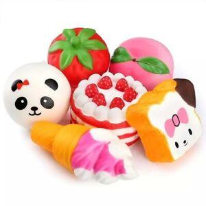Stress Reliever Strawberry Cake Jumbo Super Slow Rising Kids Toy Cute TK88