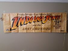 Vintage Indiana Jones and the last Crusade Banner-1989 With string to hang. New
