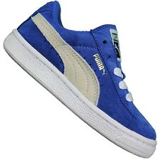 Puma Originals Suede Baby Toddler Sneaker Leather Leisure Shoes Blue White 22