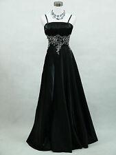 Cherlone Black Ballgown Wedding Evening Bridesmaid Full Length Formal Dress 14