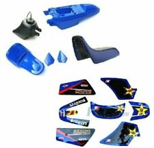 ROCKSTAR GRAPHICS DECAL STICKERS PLASTIC SEAT GAS TANK KIT PW50 PW 50 P DE43+