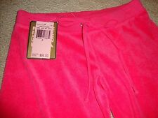 GORGEOUS NEW JUICY COUTURE SWEATS/TRACK PANTS IN HOT PINK/FUSCHIA TERRY (NWT)