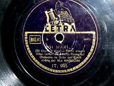 78 GIRI OI MARI ALBERTO RABAGLIATI - DORMI BAMBINA ORCH. CETRA P. BARZIZZA 1942