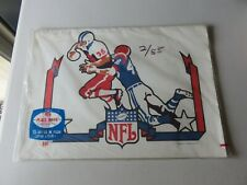 Vintage 1973 Childs NFL Football Paper Placemats NIP SEALED