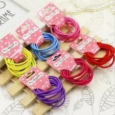 Candy Color Kids Elastic Hair Rope Ponytail band ties girls hair accessories Y2
