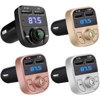 FM Transmitter MP3 Player Dual USB Charger Wireless Bluetooth Handsfree Car Kit