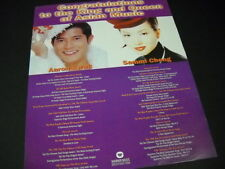 SAMMI CHENG & AARON KWOK King & Queen of Asian Music 1997 PROMO POSTER AD mint