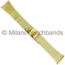 """18-22 mm Downing """"D"""" Initial Mens Gold Tone Two Piece Stainless Steel Watch Band"""