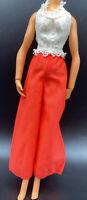 Vintage Barbie Clone? Halter Jumpsuit Orange & White