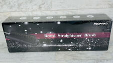 Men's Heated Beard Straightener Brush Hair Electric Comb Quick Curling