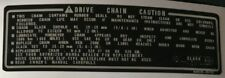 HONDA GB500 GB500TT CHAIN CAUTION WARNING DECAL