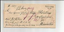 Preussen V. / RHEINE 25/11 L2 (m. Dat.-Str.) auf Kabinett-Tax.-Brief ca. 1834