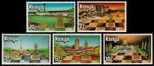 ✔ KENYA 1984 - WORLD FEDERATION CHESS  TOP SET - MI. 313/317 ** MNH [AFKN313]