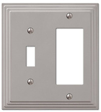 Amerelle Step Design Toggle   GFCI Decora Rocker Wall Switch Plate Outlet Cover
