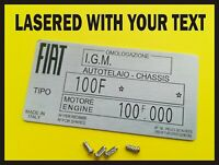 YOUR OWN TEXT Replacement Vin Plate Identification Tag Data Plate for Mazda