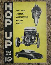 New listing HOP UP Magazine #1 1951 HOT ROD EL MIRAGE SCTA KURTIS KRAFT CUSTOMS BARRIS VTG