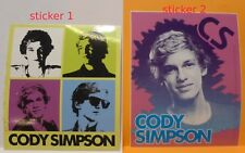 CODY SIMPSON licensed sticker set 2 different stickers included nos
