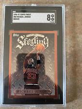 1996-97 Topps Finest Michael Jordan SGC 8 Chicago Bulls Hall of Fame