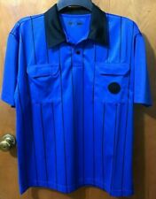 Soccer referee jersey BLUE short sleeve old style - Small -