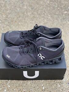 On Cloud X Men's Size US 11.5 Black/asphalt Running Shoe