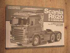 Tamiya 1/14 56323 Scania R620 6x4 Highline Tractor Truck Instruction Manual