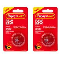 PapayaGold Paw Paw Lip Balm Pot With Manuka Honey & Papaya 7g x 2 pots