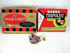 1965 TRIPOLEY CADACO 52 VARIETY GAME CHEST TRANSOGRAM BOARD GAME BADMINTON NET