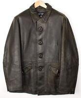 Armani Jeans Herren PVC Wolle Kragen Jacke Mantel Größe US:3 2 Eu:46 AVZ663