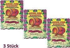 3 X Weinhefe BURGUND 38 für Rotweine 100% natürlisches Produkt Gärhefe Hefe