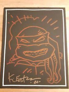 Kevin Eastman Autographed Signed Michelangelo Sketch 8x10 TMNT JSA COA