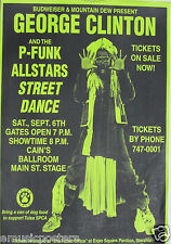 George Clinton & P-Funk All Stars 1997 Tulsa Concert Poster - Funk Rock Music