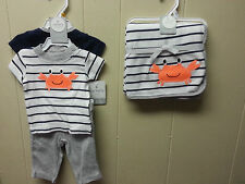 NWT Baby Boy Carters Outfit Blanket Set Lot