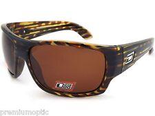 DIRTY DOG Polarised SLASHER Wrap Sunglasses Wood / Brown POLARIZED 53263