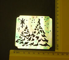 Brass/stencil/Emboss/Christmas/Xmas/Tree/Snow/Winter